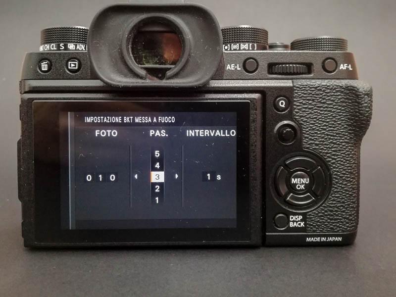 focus stacking sulla Fujifilm XT2 - passo 8
