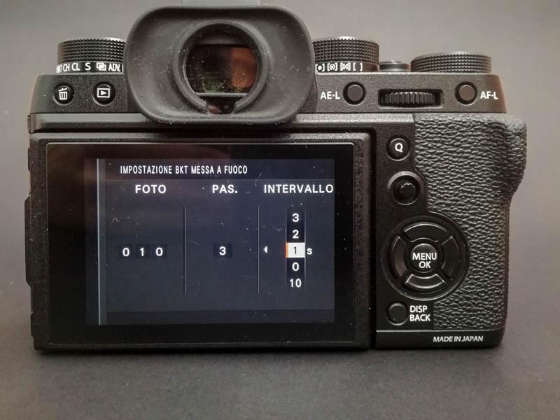 focus stacking sulla Fujifilm XT2 - passo 9