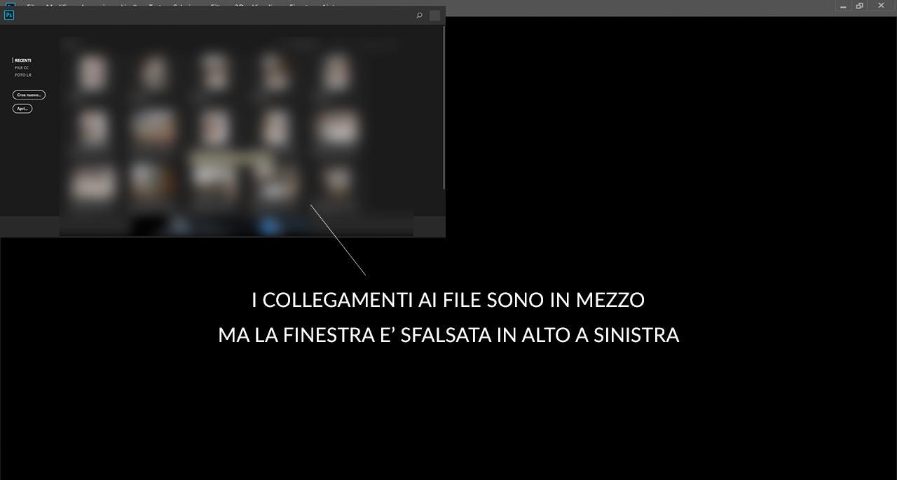 Photoshop - bug area di lavoro inizio